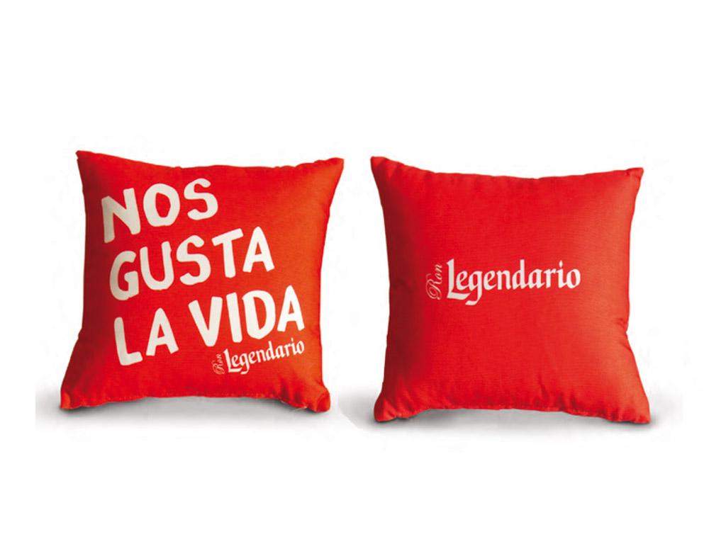 Cuscino Nos Gusta La Vida Rosso